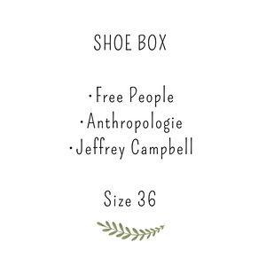 Shoe box : Jeffrey Campbell, free people, anthro